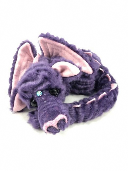 Whispers , lilac limited edition dragon by Kaycee Bears.